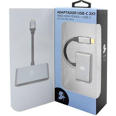 Adaptador de video USB-C p/ HDMI 4k 7454 5+ PT 1 UN