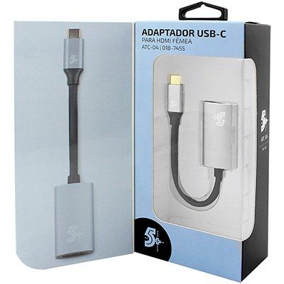 Adaptador de video USB-C p/ HDMI 4k femea 7455 5+ PT 1 UN