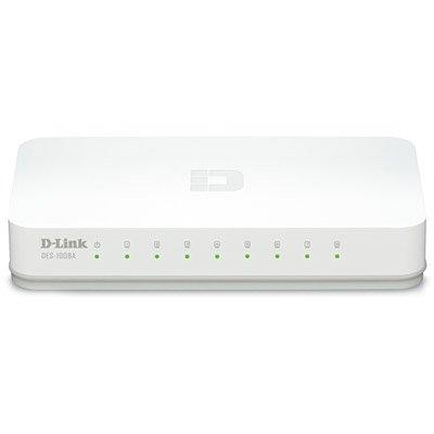 Switch 8 portas Gigabit Ethernet 10/100/1000Mbps DGS-1008A D-Link CX 1 UN