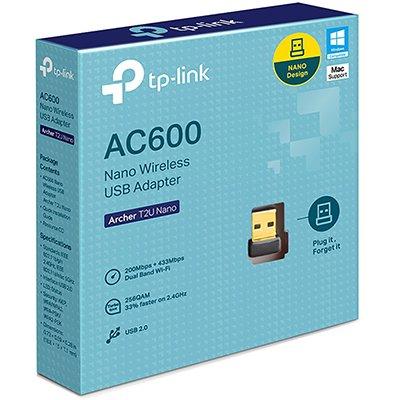 Adaptador wireless Dual Band nano usb AC 600Mbps T2UNANO Tp Link CX 1 UN