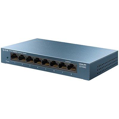 Switch 8 portas 10/100/1000 Mbps não gerenciável LS108G Tp Link CX 1 UN