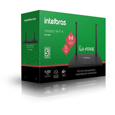 Roteador wireless 4 portas w4-300f, 4750089, Intelbras - CX 1 UN