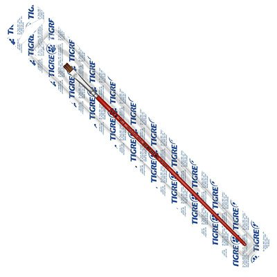 Pincel chato reto n.04 vermelho 181-04 Tigre BT 1 UN