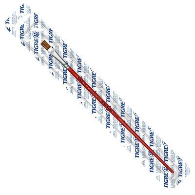 Pincel chato reto n.08 vermelho 181-08 Tigre BT 1 UN