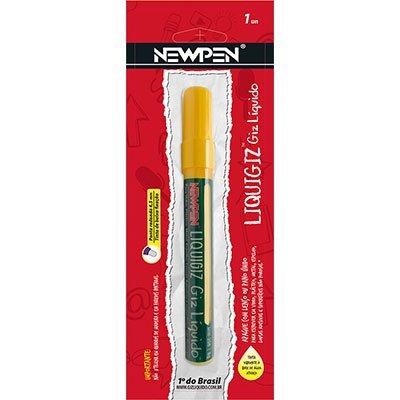 Giz líquido redondo 4,5mm amarelo pastel 05.721 Newpen PT 1 UN