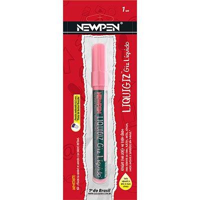 Giz líquido redondo 4,5mm rosa pastel 05.722 Newpen PT 1 UN