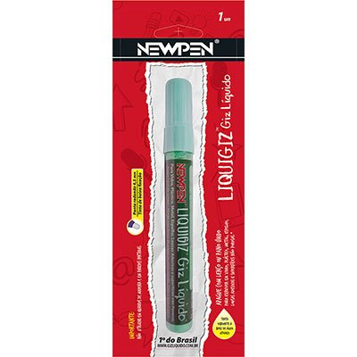 Giz líquido redondo 4,5mm verde pastel 05.723 Newpen PT 1 UN