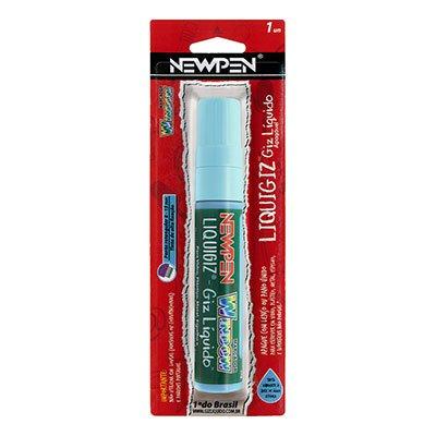 Giz líquido retangular 8mm / 15mm azul 05.586 Newpen BT 1 UN