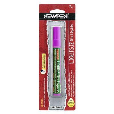 Giz líquido redondo 4,5mm roxo 05.554 Newpen BT 1 UN