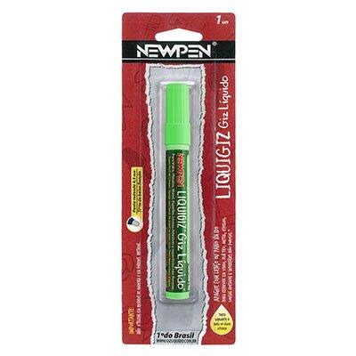 Giz líquido redondo 4,5mm verde 05.557 Newpen BT 1 UN