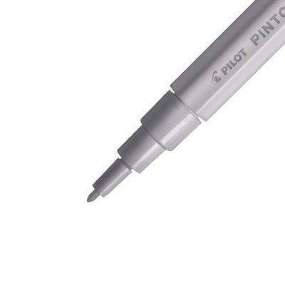 Pincel marcador Pintor ponta extra fina 0,7mm branco SW-PT Pilot BT 1 UN