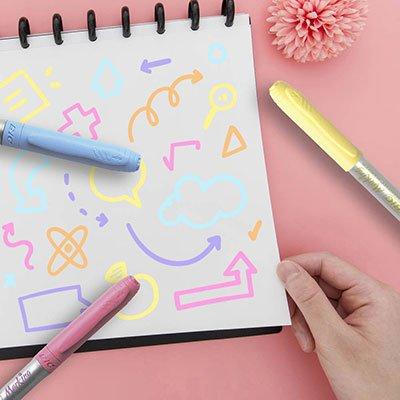 Pincel marcador permanente 1,1mm rosa pastel 970991 BIC PT 1 UN