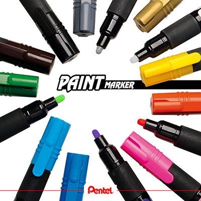 Pincel marcador permanente Paint Marker preto SM/MMP20-A Pentel CX 1 UN