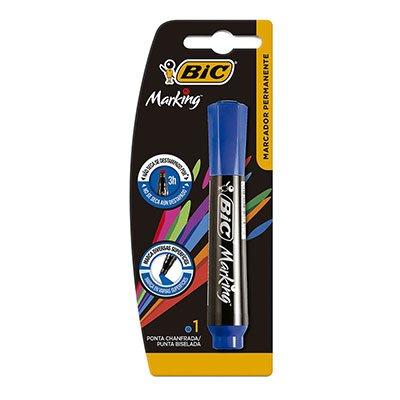 Pincel marcador permanente 3,0mm recarregável azul 904212 BIC BT 1 UN