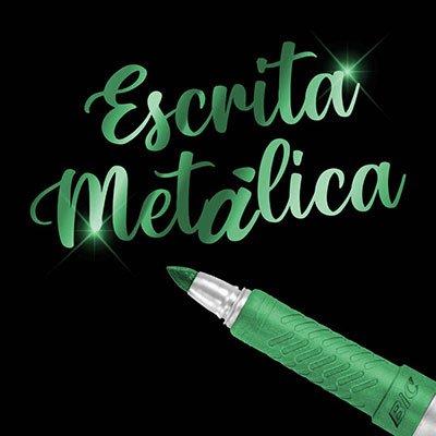 Pincel marcador permanente 1.1mm metálico verde 971032 BIC UN 1 UN
