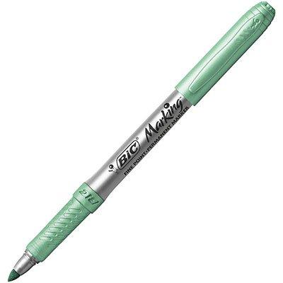 Pincel marcador permanente 1.1mm metálico verde folha 971031 BIC UN 1 UN