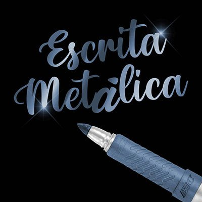 Pincel Marcador Permanente Tinta Metálica BIC Marking, Cor Azul, Ponta Média 1.1mm, Escreve em Superfícies Escuras, 971027 - UN 1 UN