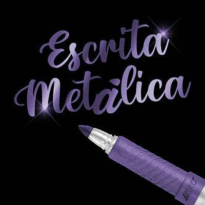Pincel marcador permanente 1.1mm metálico violeta 971028 BIC UN 1 UN