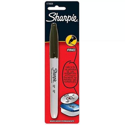 Pincel marcador permanente 0,9mm preta 1776929 Sharpie BT 1 UN