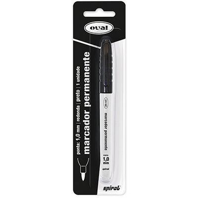 Pincel marcador permanente 1,0mm preto PY230200-1 Oval BT 1 UN
