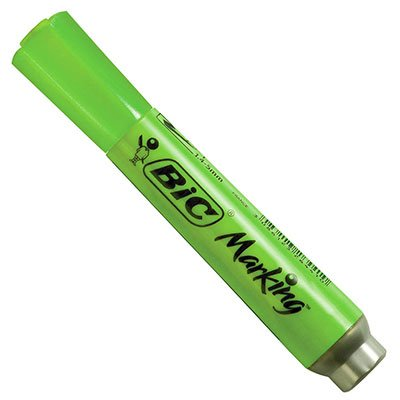 Pincel marca texto chanfrado verde 904199 BIC BT 1 UN