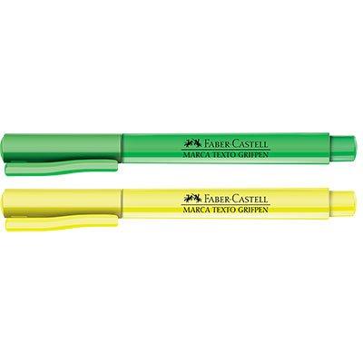 Pincel marca texto amarelo grifpen PM/MTAMBZF Faber Castell CX 12 UN