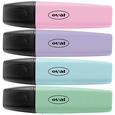 Pincel marca texto 4 cores sortido pastel 5113 Oval BT 4 UN