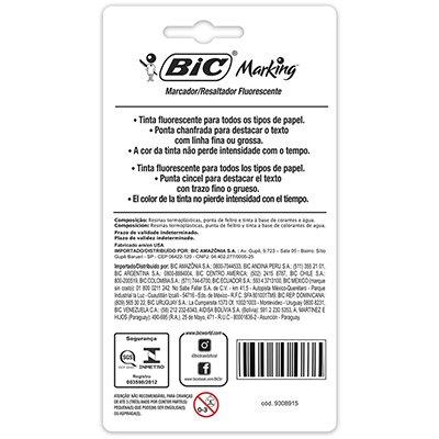 Pincel marca texto 4 cores pastel Grip 970913 BIC PT 1 UN
