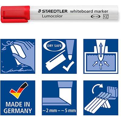 Pincel quadro branco 3,0mm 4 cores Lumocolor 351WP402 Staedtler PT 1 UN
