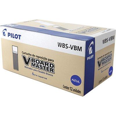 Reabastecedor p/pincel p/quadro branco wbs-vbm azul Pilot CX 12 UN