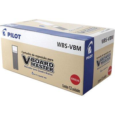Reabastecedor p/pincel p/quadro branco wbs-vbm vermelho Pilot CX 12 UN