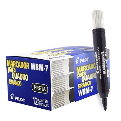 Pincel quadro branco 2,0mm preto wbm-7 CX012PR Pilot CX 12 UN