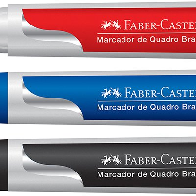 Marcador Quadro Branco 3 Cores Ctl - 3 Un - Faber-Castell BT 3 UN