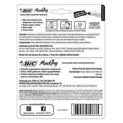 Kit pincel quadro branco 2,0mm 4 cores c/apagador 970929 BIC BT 1 UN