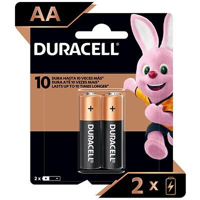 Pilha Alcalina Pequena AA Duracell - BT 2 UN