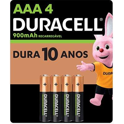 Pilha recarregável AAA 900mAh 5006081 Duracell BT 4 UN