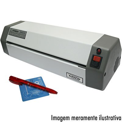 Plastificadora p/ polaseal A4/Ofício compacta bivolt AC0023 Gazela CX 1 UN