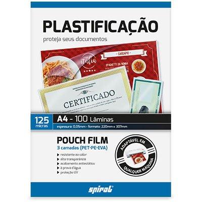 Plástico para plastificação 220x307x0,05 A4 02342 Spiral PT 100 UN