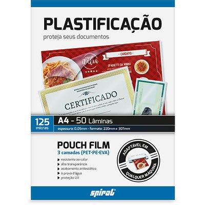 Plástico para plastificação 220x307x0,05 A4 02427 Spiral PT 50 UN