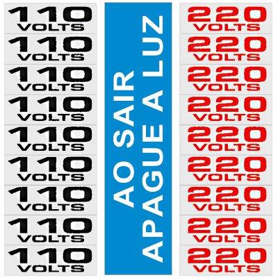 Placa p/ sinalização etiqueta de voltagem 120AH Sinalize BT 19 UN
