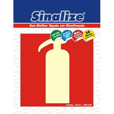 Placa p/ sinalização 15x15cm fotolumi. extintor 350AD Sinalize BT 1 UN