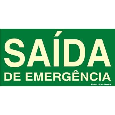 Placa p/ sinalização 15x30cm fotolumi. saída emergência 315AM Sinalize BT 1 UN