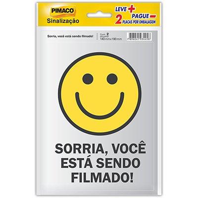 Placa p/ sinalização 14x19 sorria 891745 Pimaco PT 2 UN