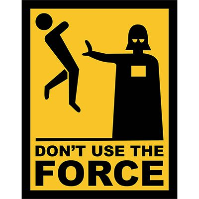 Placa decorativa Dont Use the Force 002 Legião Nerd BT 1 UN