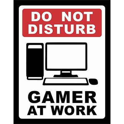 Placa decorativa Gamer at Work PC 197 Legião Nerd BT 1 UN