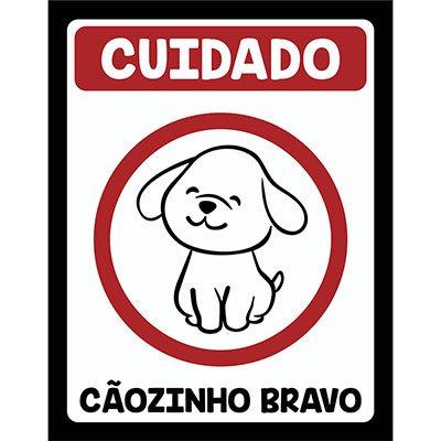 Placa decorativa Cãozinho Bravo 246 Legião Nerd BT 1 UN