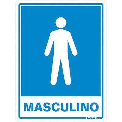 Placa p/ sinalização sanitário masculino 030AB Sinalize BT 1 UN