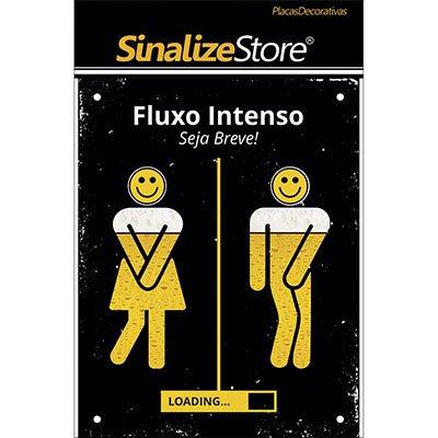 Placa decorativa Fluxo Intenso - Seja Breve DEC34 Sinalize PT 1 UN