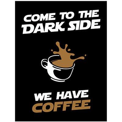 Placa decorativa We Have Coffee 312 Legião Nerd PT 1 UN