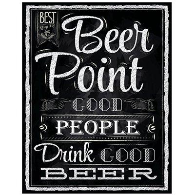 Placa decorativa Beer point good people DEC31 Sinalize CX 1 UN